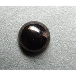 Cabochon rond en verre 14mm Noir marbré cuivré