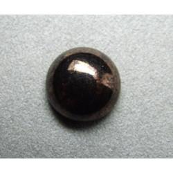 Cabochon rond en verre 16mm Noir marbré cuivré