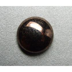 Cabochon rond en verre 20mm Noir marbré cuivré