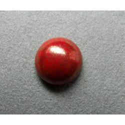 Cabochon rond en verre 14mm Rouge marbré