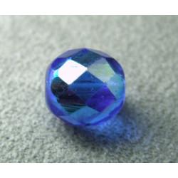 Facettes en verre de Bohême 10mm Sapphire AB (x1)