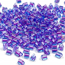 Triangles 11/0 référence 252 Purple Ligned Aqua (x10)