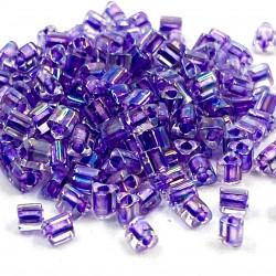 Triangles 11/0 référence 788 Lavender Ld Crystal Rainbow (x10)