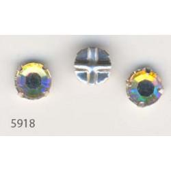 Strass à Coudre 6mm Cristal AB