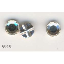 Strass à Coudre 6mm Cristal