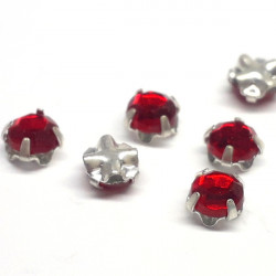 Strass à Coudre 4mm Siam (X10)