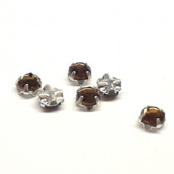 Strass à Coudre 4mm Smoked Topaz (X10)