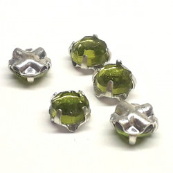 Strass à Coudre 4mm Olivine (x10)