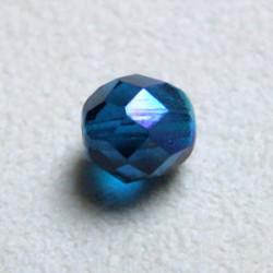 Facettes en verre de Bohême 8mm Capri Blue AB (x10)