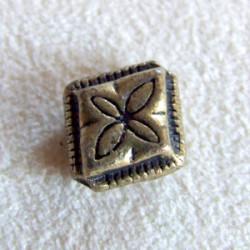 Perle intercalaire losange bronze 12mm (X1)