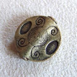 Pastille intercalaire bronze 18mm (X1)