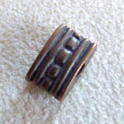 Perle intercalaire bronze 10x7mm (X1)
