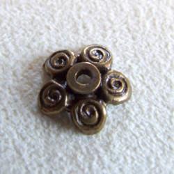 Calotte petite marguerite bronze 12mm (X1)
