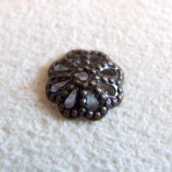 Calotte ciselée Bronze 10mm (X1)