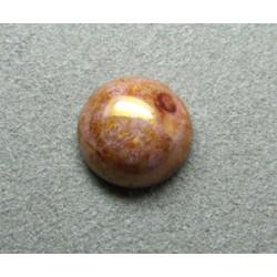 Cabochon rond en verre 12mm Rose marbré