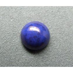 Cabochon rond en verre 12mm Bleu Lapis marbré
