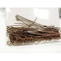 Assortiment tiges, clous et anneaux vieux cuivre