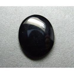 Cabochon ovale en verre 30X25mm Noir