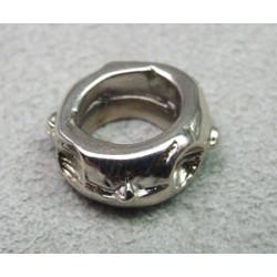 Perle rondelle intercalaire 13x5mm - argenté vieilli (x1)