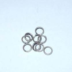 Anneau Argenté Vieilli diamètre extérieur 12mm (X10)