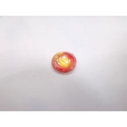 Cabochon Verre Rouge et Or 12mm(X1)