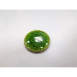 Cabochon Mosaïque Vert Approx 26X5mm(X1)