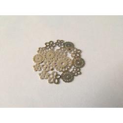 Estampe fleur argent 22mm (x1)