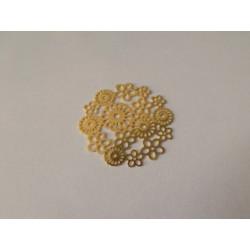 Estampe fleur doré 22mm (x1)
