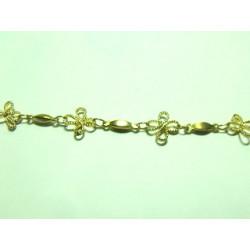 Chaine fleur doré 16X9mm(X10cm)