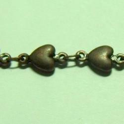 Chaine Coeur Cuivre 11X5mm(X10cm)