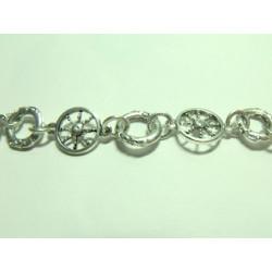 Chaine Soleil 13X32mm Argent vieilli(x10cm)