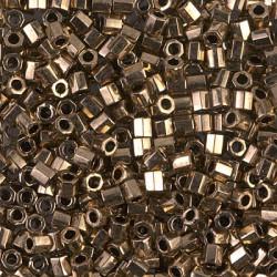 DBLC-0022 Delicas 8/0 Hexa Cut Metallic Bronze (x5gr)