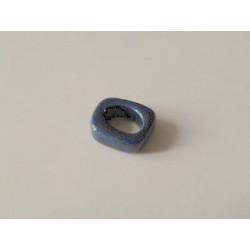 Rondelle céramique 17X14X5X10mm Marine pailleté(X1)