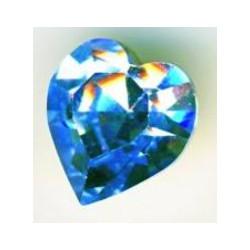 Coeur Swarovski à Sertir 11mm Light Saphir 4800 (x1)