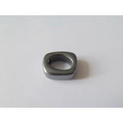 Rondelle céramique 17X14X5X10mm Hématite émaillé(X1)