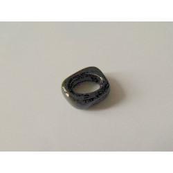 Rondelle céramique 17X14X5X10mm Noir émaillé(X1)