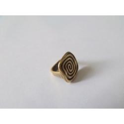 Passant Carré spirale Bronze 12X13.5mm(X1)