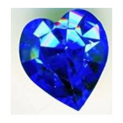 Coeur Swarovski à Sertir 11mm Saphir 4800 (x1)