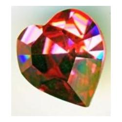 Coeur Swarovski à Sertir 11mm Rose 4800 (x1)