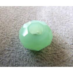 Perle Vert Menthe Opal pour Buna cord ou pvc 14X8X5mm(X1)