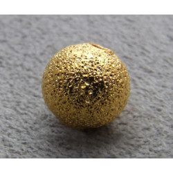 Boule Métal Doré Diamantée 8mm(X1)