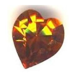 Coeur Swarovski à Sertir 11mm Topaz 4800 (x1)