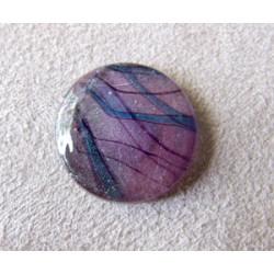 Cabochon en verre dichroïque Rond 19mm (X1)