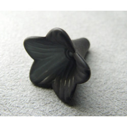 Fleur en Lucite 23X11mm Noir(x10)