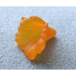 Fleur en Lucite 11mm Orange (X10)