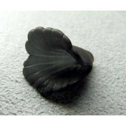 Fleur en Lucite 17mm Noir (X10)