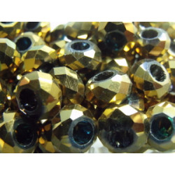 Perle Dorado pour Buna cord ou pvc 14X8X5mm(X1)