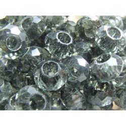 Perle Black Diamant pour Buna cord ou pvc 14X8X5mm(X1)