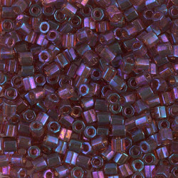 DBLC-0104 Delicas 8/0 Hexa Cut Tr Raspberry AB (x5gr)
