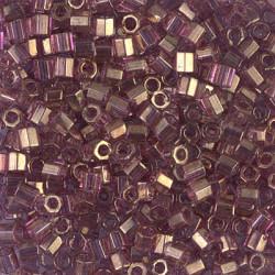 DBLC-0108 Delicas 8/0 Hexa Cut Gold Luster Amethyst (x5gr)